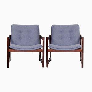 Vintage Sessel mit Palisander Gestellen von Artifort, 2er Set