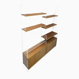 Royal System Shelving Unit by Kajsa & Nisse Strinning for String, 1960s