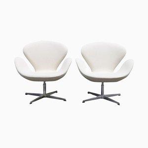 Swan Chairs von Arne Jacobsen für Fritz Hansen, 1989, 2er Set