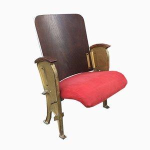 Parisian Theater Folding Chair from Fourel Lyon, 1940s
