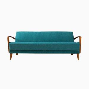 Sofá cama de haya, años 50