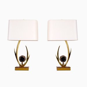 Sculptural Table Lamps by Willy Daro, 1970s, Set of 2