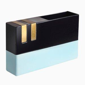 Blaue Messing Vase von Dimorestudio für Bitossi