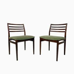 Sedie da pranzo Mid-Century in palissandro, set di 6