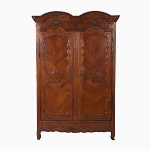 Antique French Wedding Wardrobe in Wild Cherry, 1770s