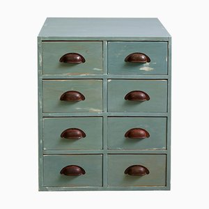 Small Chest of Drawers in Pigeon Blue, 1920s