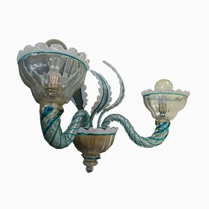Lampade da parete in vetro di Murano di Avem, anni '60, set di 2