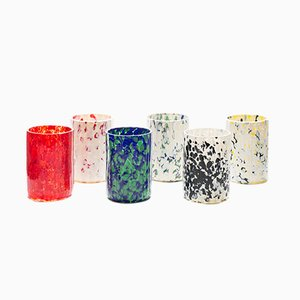 Verres Macchia su Macchia Color Mix par Stories de Italy, Set de 6