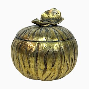 Italian Brass Pumpkin Ice Bucket, 1970s