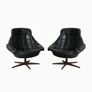 Model Silhouette Swivel Chairs by H.W. Klein for Bramin, 1960s, Set of 2