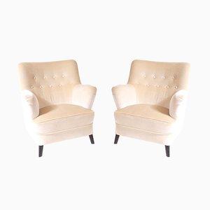 Dänische Sessel von Fritz Hansen, 1950er, 2er Set