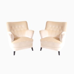 Danish Armchairs from Fritz Hansen, 1950s, Set of 2