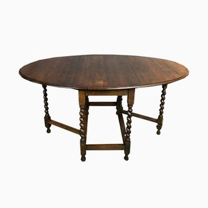 Antique English Oak Folding Table
