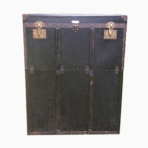 Large Art Deco French Travel Trunk from Maison Gisler