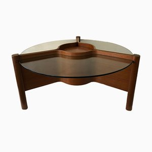 Vintage British Coffee Table with Bar