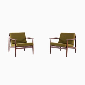 Teak Armchairs by Arne Vodder for Glostrup Mobelfabrik, 1960s, Set of 2