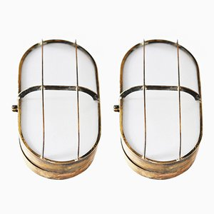 Brass Andrea Doria Ship Sconces by Gustavo Pulitzer, 1950s, Set of 2