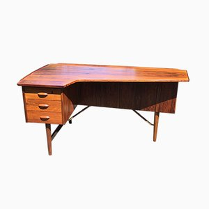 Rosewood Desk by Peter Lovig Nielsen for Hedensted Mobelfabrik, 1960s