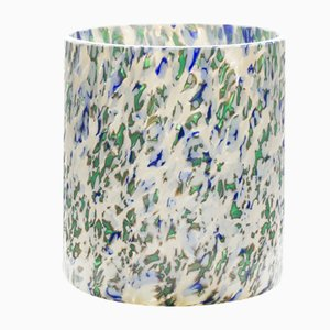 Ivory, Green & Blue Medium Macchia su Macchia Glass Vase by Stories of Italy
