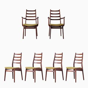 2 Armchairs & 4 Side Chairs in Rosewood from Casala, 1970s