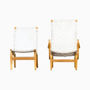 Pernilla Lounge Chairs by Bruno Mathsson for Dux, 1970s, Set of 2