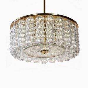 Lámpara colgante italiana de vidrio, años 60