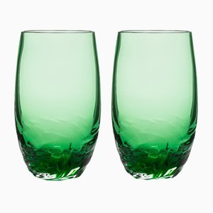Verres Dattero Emeraude par Stories de Italy, Set de 2
