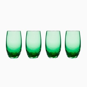 Verres Dattero Emeraude par Stories de Italy, Set de 4