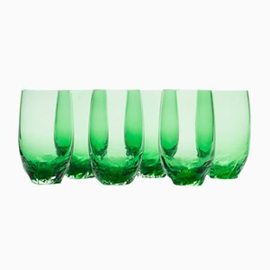 Verres Dattero Emeraude par Stories de Italy, Set de 6