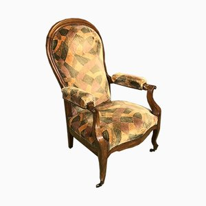 Fauteuil Inclinable Antique en Noyer
