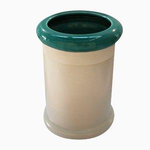 Vaso cilindrico di Ettore Sottsass per Bitossi, 1968