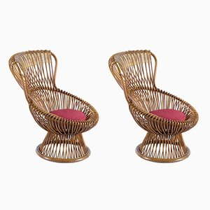 Margherita Armchairs by Franco Albini for Vittorio Bonacina, Set of 2