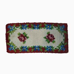 Tappeto Kilim con motivo floreale, anni '70