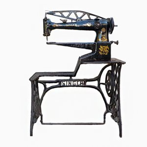 Table pour Machine de Cordonnerie du 19ème Siècle de Singer