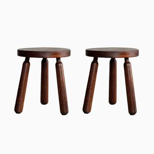 Rustic French Stools, 1950s, Set of 2