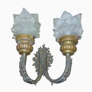 Vintage Brass Double Wall Lamp