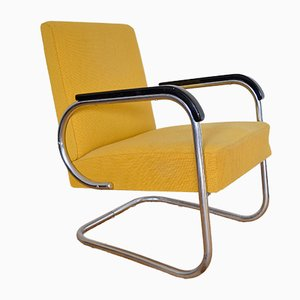 Tubular Steel Lounge Chair from Hayek Gottwald, 1930s