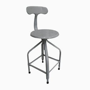 Industrial Steel Stool or Studio Chair by Chaises Nicolle