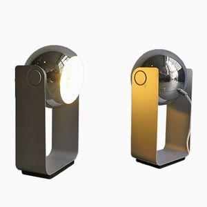 Silberne verchromte Metall Lampen, 1980er, 2er Set