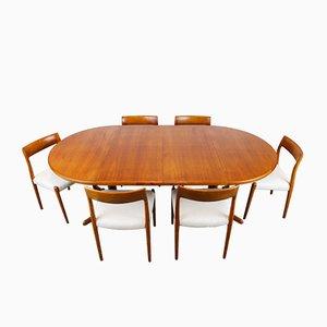 Set da pranzo grande modello 77 di Niels Otto Møller per J.L. Møllers, Danimarca, anni '50