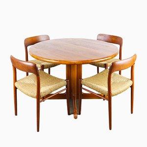 Set da pranzo nr. 75 di Niels Otto Møller per J.L. Møllers, anni '50