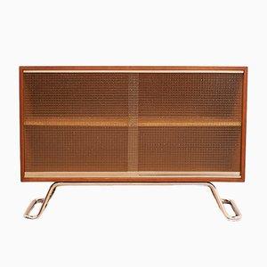 Sideboard mit Drahtglas Schiebetüren, 1950er