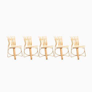 Hat Trick Chairs by Frank O. Gehry for Knoll International, 1993, Set of 4