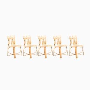 Hat Trick Stühle von Frank O. Gehry für Knoll International, 1993, 4er Set