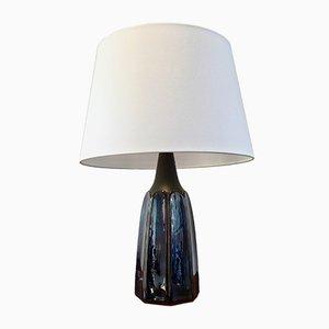 Vintage Blue Danish Ceramic Table Lamp by Einar Johansen for Søholm Stentoj