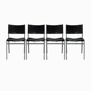 Saddle Leather SE 06 Dining Chairs by Martin Visser for 't Spectrum, 1960s, Set of 4