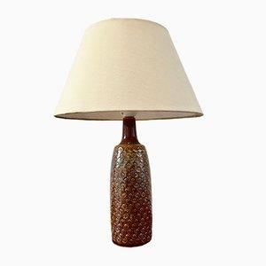 Vintage Brown Danish Ceramic Table Lamp by Einar Johansen for Søholm Stentoj