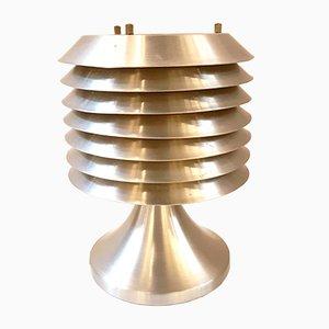 Lampada da tavolo in alluminio spazzolato di Hans-Agne Jakobsson, anni '70