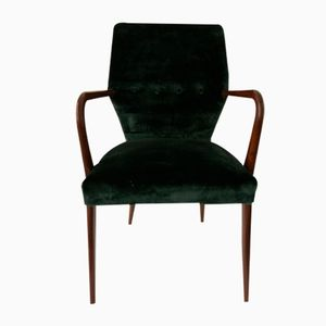 Velvet Armchair, 1950s