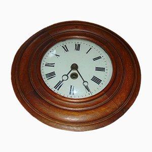 Horloge Murale Vintage en Bois de D.C.